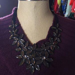 New sparkle in the dark bib necklace