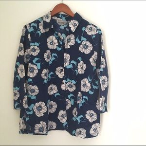 croft & barrow Tops - Linen Floral Print Blouse