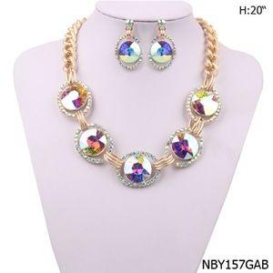 Multicolor Block Chain Necklace