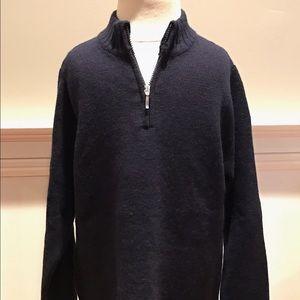 Baby CZ Other - Carolina Zapf 100% cashmere navy half-zip sweater.