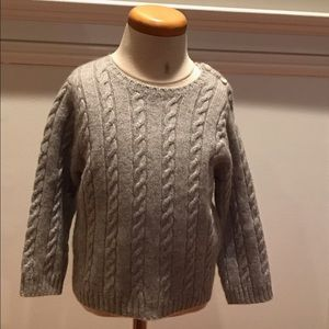 Baby CZ Other - Baby CZ grey 100% Cashmere cable sweater.