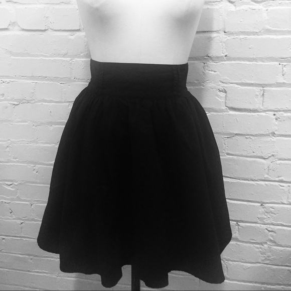 b1cc0067a H&M Skirts | H M Black Skirt With Pockets Size 6 | Poshmark