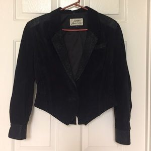 Vintage M Out of Bounds Leather Jacket Blazer 80's