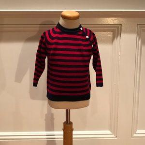 Baby CZ Other - Baby CZ striped Ragland 100% Cashmere Sweater