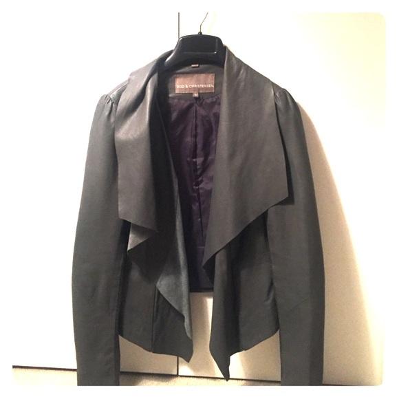 480cd63bb77 Bod & Christensen Jackets & Blazers - Bod & Christensen Open Drape Leather  Jacket