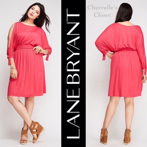 ⚡Sale! Lane Bryant Cold Shoulder Dress Plus Size