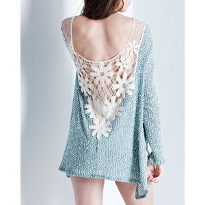 Daisy Crochet Back Top