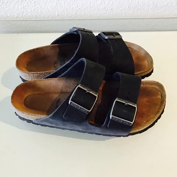 birkenstock arizona black leather 38