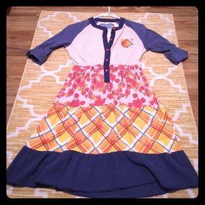 scrapbook Dresses & Skirts - Super cute, vintage looking, multi pattern dress!