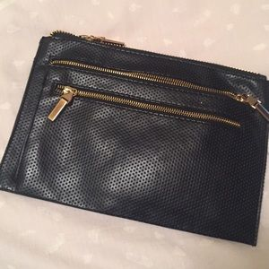 Black Clutch with Gold Details