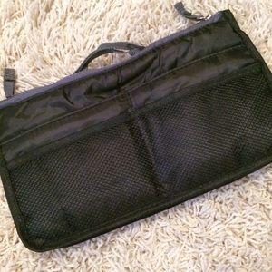 Handbags - Black & Gray Purse Organizer