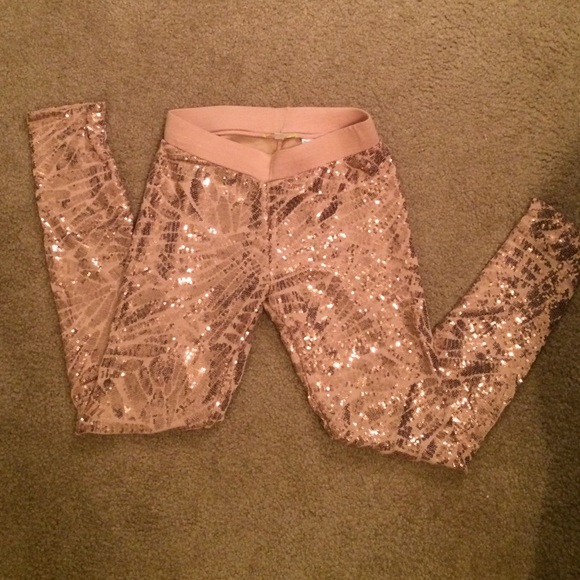 5be89c06212d1 Gianni Bini Pants | Pink Sequin Leggings | Poshmark