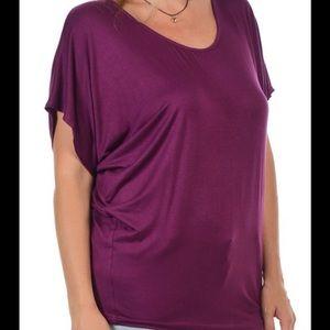6f6ec13d196b97 Bellino Clothing Tops - Plus- plum Dolman soft top. Love💕