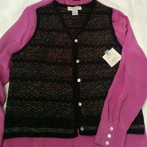 Sweaters - 🆕 Wool blend deep purple with melange west