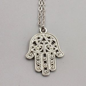 NEW Hamsa Silver Necklace
