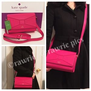 SALE New Kate Spade pebbled leather bow Crossbody