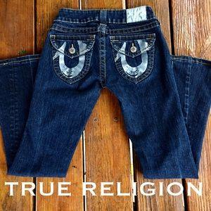 TRUE RELIGION Joey silver foil painted horseshoe