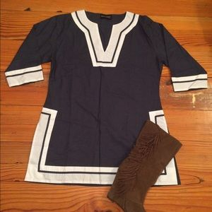 Dresses & Skirts - Cute Navy Dress/Tunic