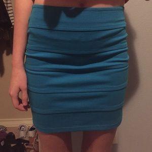 Forever21 blue tight body con skirt
