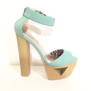 QUPID Ankle Strap Platform Sandal | sz. 6.5