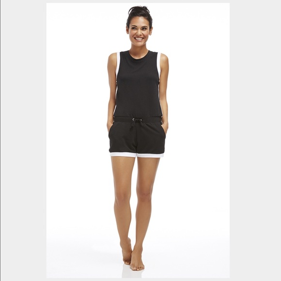 2f306c951262 Fabletics Other - Fabletics Lakeside Romper in black and white