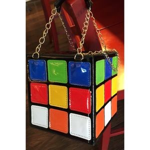 Handbags - ⬇️NWOT Rubic's Cube Novelty Tote Purse❤️