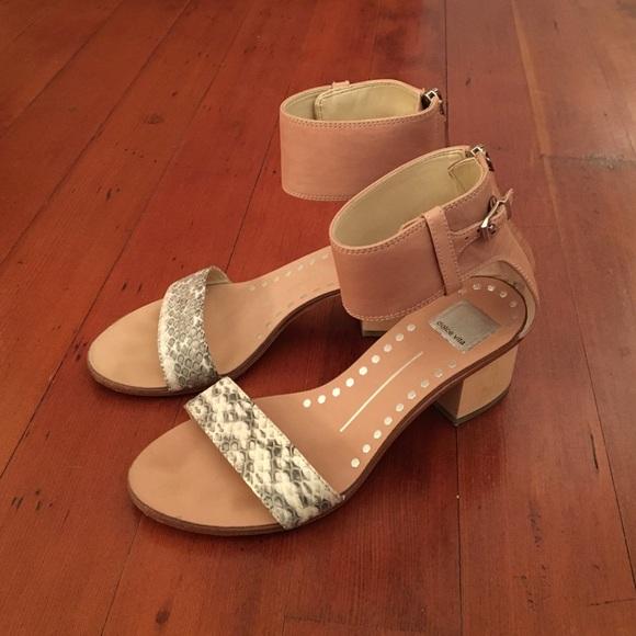 7c1c8caca2b Dolce Vita Shoes - Dolce Vita block heel snake nude 7.5
