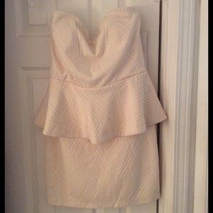 Emerald Sundae Dresses & Skirts - Peplum cream dress