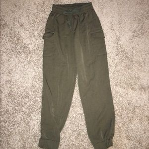 ASOS Petite Pants - Army Green High Waisted Pants