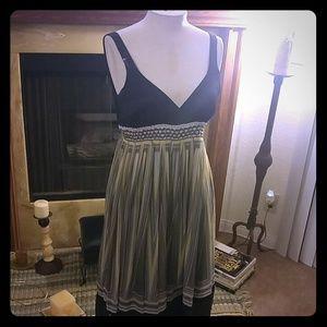 Zara Flowing striped 100% silk dress