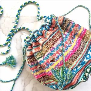Love Stitch Handbags - Multi-Color Gypsy Puff Crossbody