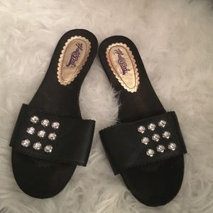 Hale Bob Shoes - Hale Bob rhinestone slide on sandals