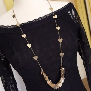 Jewelry - Drooping hearts long necklace