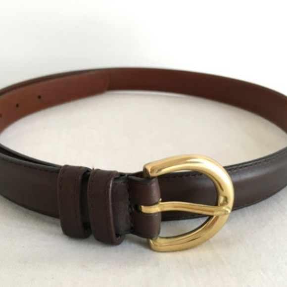 aedc2ae04c43 Coach Accessories - New Coach Mahogany Brown Leather Belt  8400