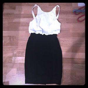 L'Agence formal black backless dress