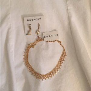 Givenchy earrings and choker set