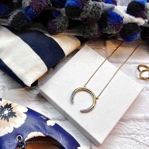 Rachel Zoe Jewelry - Pave Accent Crescent Necklace