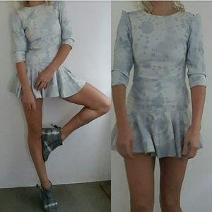 Dresses & Skirts - Revolve sample 100% leather hot shoulder dress xs