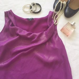 💕Purple Shimmery Flowy & Loose Scoop Tank💕