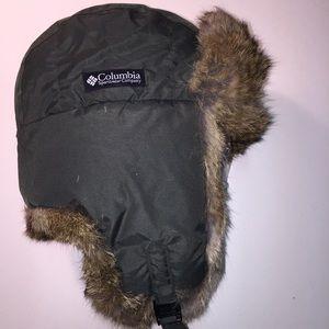 Columbia Accessories - Columbia Lg RabbitFur Insulated Bomber Hat DkGreen