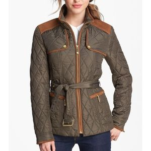 ⛔️ Vince Camuto Quilted Suede Field Jacket S $119