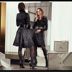Altuzarra Jackets & Blazers - Altuzarra Black Snake Print Trench-coat M