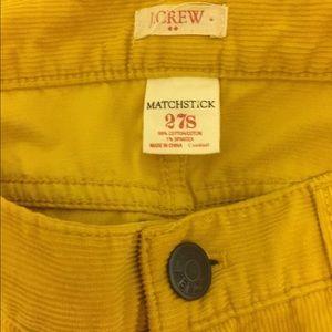 J Crew - NWOT - Yellow Mustard Cords