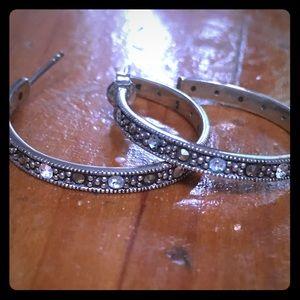 Jewelry - HOLIDAY SALE  Marcasite hoop earrings