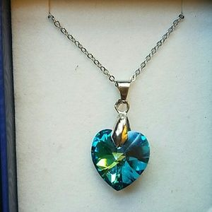 Swarovski  Jewelry - Bermuda Blue Swarovski Pendant necklaces