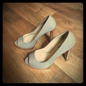 Zara peep toe pumps.