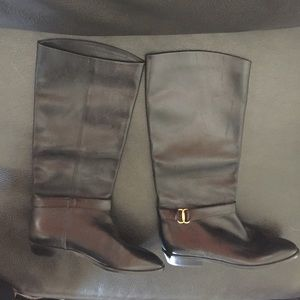 """Etienne Aigner leather """"Shelby"""" riding boots"""