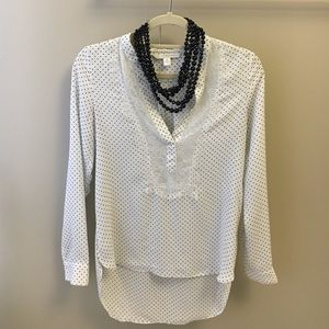 Lauren Conrad polka dot lace blouse XS