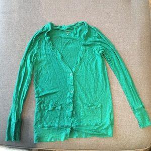 JCrew linen cardigan. Size small.