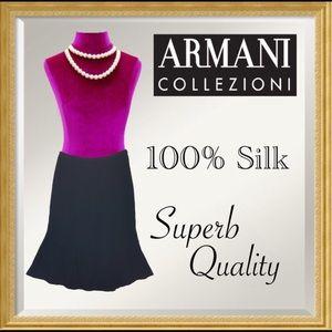 Armani Collezioni Dresses & Skirts - ARMANI couture Black 100% Italian Silk Godet skirt